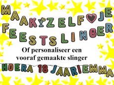 Feestslinger Neon Colours 'Personalised'