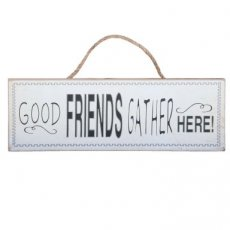 Houten tekstbord 35x12 Good Friends