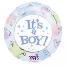 "Baby Folie Ballon 45cm (18"") It's a Boy! Pamperspelden"