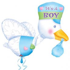 Baby Folie Ballon Multi shape Ooievaar It's a Boy