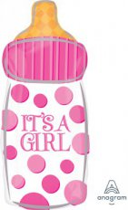 Baby Folie Ballon 58 x 25cm (23x10inch) Baby Bottle It's a Girl