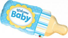 "Baby Folie Ballon 99cm (39"") Baby Fles Welcome Baby"