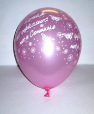 .Ballon Latex 11inch/30cm Communie Roze