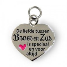 Charms for You - Broer en Zus Hartje