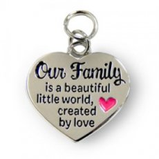 Charms for You hangertje - Our Family Hartje