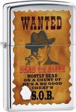 Zippo Wanted Poster