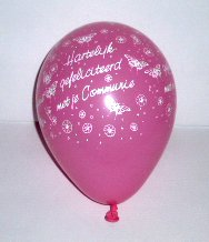 .Ballon Latex 5inch/13cm Communie Roze