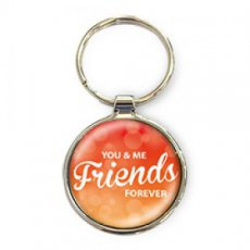 Luxe Sleutelhanger rond You & Me friends forever