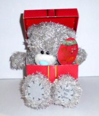 Me to You 7inch Kerstpluche met hartje I Love You
